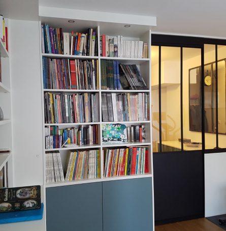 Verrière d\'atelier intérieur sur mesure à Sèvres, Paris ...